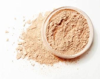 LIGHT COOL Organic Mineral Foundation | Vegan Makeup Powder |  Acne Safe-Oily Skin  | Cruelty Free | 10 Gram/30 Gram Sizes