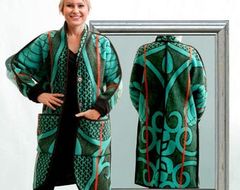 Basotho Blanket Coat (colour choice) - Made to order by Weiss Cape Town