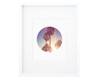 Modern Beach Art, Minimalist Palm Tree Print, Palm Print, Sunset Print, Palm Tree Print, Sunset Palm Art, Modern Palm Tree, Scandinavian Art