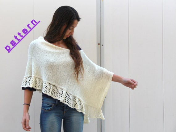 Completely new Knit poncho pattern Women poncho Hand knit poncho Womens Poncho  VE63