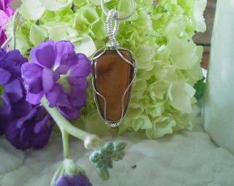 Tiger Eye Wire-wrapped Pendant