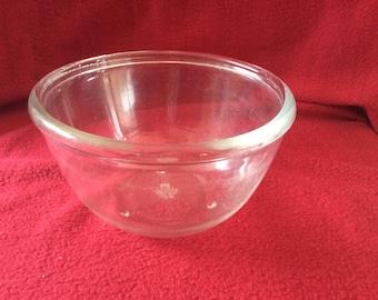 "Pyrex JAJ Clear Glass Pudding Bowl appx 6"""