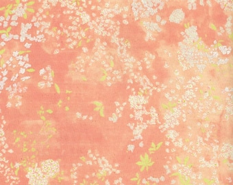 Nani IRO Japanese Textiles - DOUBLE GAUZE Lei Nani in Peach Metallic