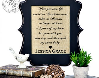 Miscarriage Gift, pregnancy loss, in memory of child, baby loss, miscarriage, miscarriage memorial, sympathy miscarriage, miscarriage poem,