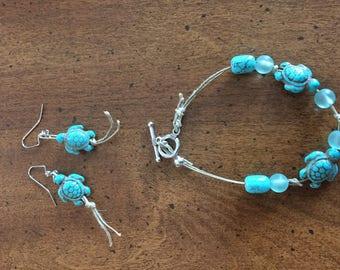 Turtle Turguoise Jewelry Set