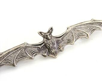 Vintage Brooch - Bat Jewelry - Bat brooch - Silver Brooch - Statement Jewelry - handmade jewelry