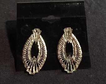 Vintage hand made sterling silver earrings.