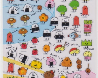 Bento Stickers - Onigiri Stickers - Japanese Stickers - Mind Wave Stickers - Reference A5261-62A5462