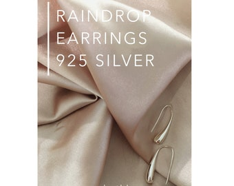 Rain Drop Earrings 925 silver