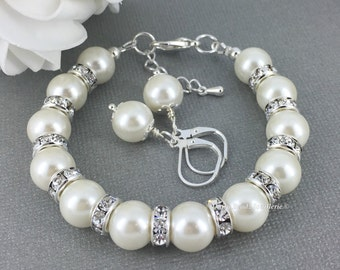 Ivory Pearl Bracelet Bridesmaid Gift Bridesmaid Jewelry Gift for Mother of the Bride Gift Mother of the Groom Jewelry Maidof Honor Gift