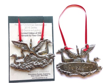 6 Geese a Laying, Ltd Edition Christmas Decoration