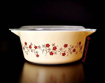Vintage Pyrex - Trailing Flowers - Pyrex 475 - Wedding Gift - Gift for Wife - Mother's Day Gift - Anniversary Gifts