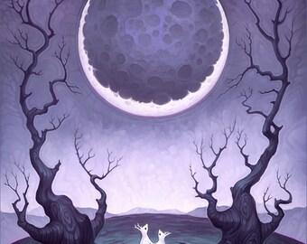 Moongazing - Art Print