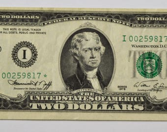 1976 2 Federal Reserve Note Two Dollars STAR I00259817* Fr1935 Minnesota