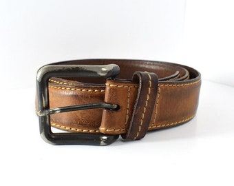 Vascetti Vintage Mens Leather Belt Brown Size 38
