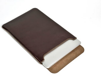 """Leather Sleeve for MacBook Air 13"""" (Top Closing)"""