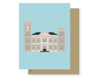 Algiers Courthouse Historic Building Style, West Bank, Architecture Louisiana, New Orleans Greeting Card