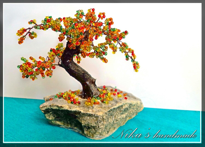 Perlen künstlichen Baum kleine Bonsai Herbst japanische
