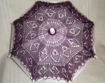 Purple Lace Parasol, Cosplay Parasol, Lace Parasol, Wedding Parasol, Lace Umbrella, Fashion Accessory, (Small), Centerpiece, Wedding Parasol