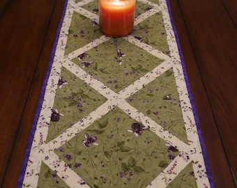 Lovely Lady Slippers Quilted  Table Runner
