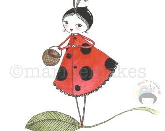 Little Coccinella - A5 gicleé print