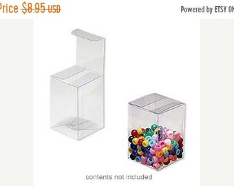 Mothers Day Sale 20 Pack Clear Plastic Tuck Top Style Packaging Retail Gift Boxes 2X2X3 Inch Size