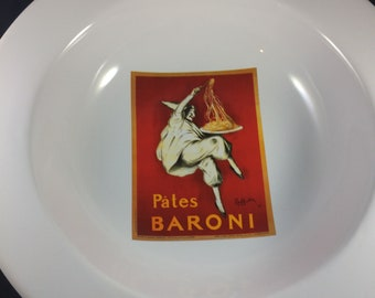Pottery Barn Vintage Posters13 inch Pasta Serving Bowl