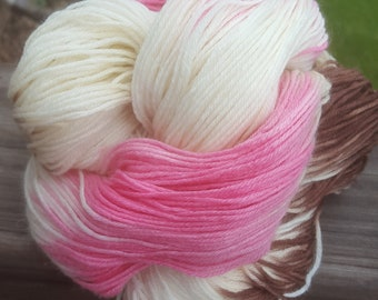 TRIPLE SCOOP hand dyed sock yarn superwash wool knitting crochet
