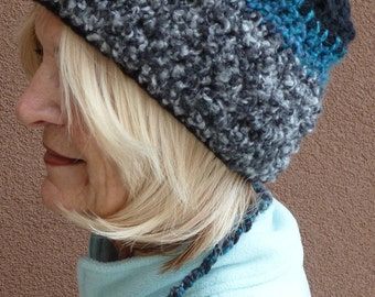 Ski the slopes with a tail, unique ponytail hat, original women's winter hat made for a ponytail, gift for her, boho accessories