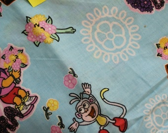 Dora & Boots Beauty in bloom 100% cotton fabric Viacom Int.