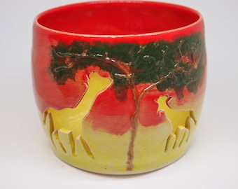 Ceramic Candle Holder Wedding Gifts Giraffe Pottery
