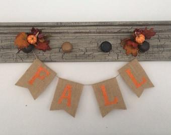 Burlap 'Fall' Banner