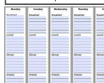 INSTANT DOWNLOAD Meal Menu Planning Binder Printable PDFs 14 pages by Punker-Do Designs