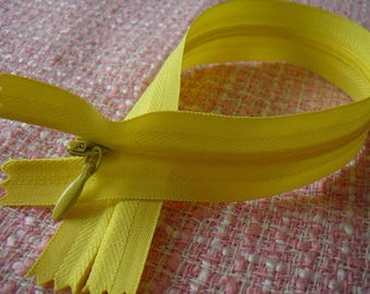 Zipper yellow INVISIBLE zipper 25 cm