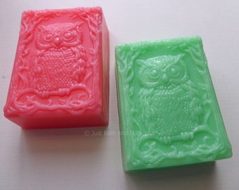 Owl Soap, Bird Soap, Novelty Soap, You pick color & scent, Soap By Alissa