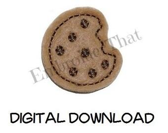 INSTANT DOWNLOAD Mini Cookie Feltie Embroidery Design File