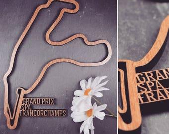 Spa Francorchamps Grand Prix Circuit - Wooden Spa Grand Prix Circuit. Perfect for Grand Prix Circuit lovers. Grand Prix Circuit obsessives.