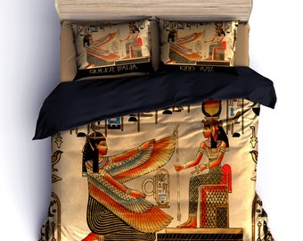 Egyptian Duvet Bedding - Personalize _New Option -add to Pillows Queen and Name or King and Name