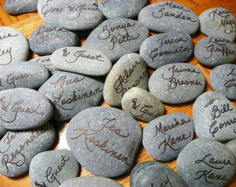 Hand Penned Calligraphy - River Rocks/Place Cards