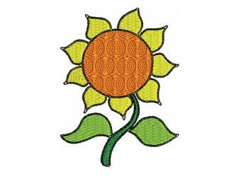 embroidery design  Sunflower embroidery design file