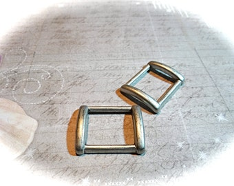 2 Aluminum Buckles Leather Crafts Metal Buckles  Fasteners RB-169
