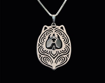 Chow Chow - sterling silver pendant and necklace