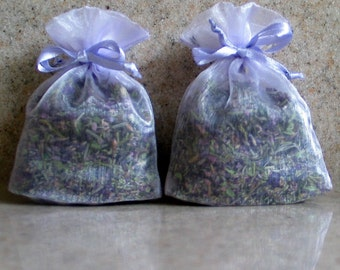 2 lavender sachets - filled with our own potpourri