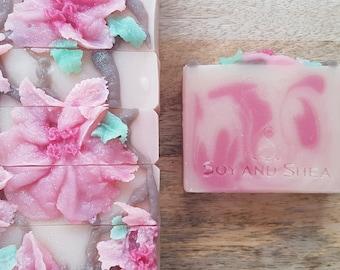 Japanese Cherry Blossom Handmade Artisan Soap - Cold Process