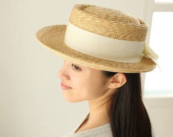 "Pork Pie Straw Hat ""Bob"""