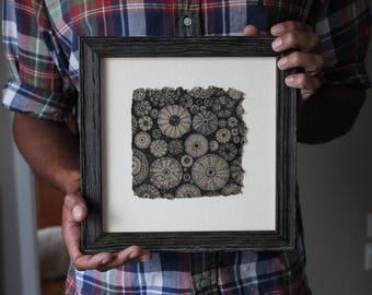 Aquatic V - Original Artwork, Micron Pen, Sea Urchin Drawing, Nature Art
