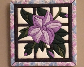 Lavender flower fabric wall hanging