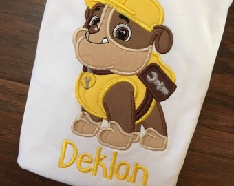 Name included FREE- Paw Patrol shirt with any character