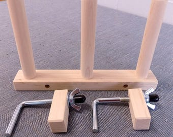 Triple Hard Maple Warping Pegs Set (CLAMPS INCLUDED)