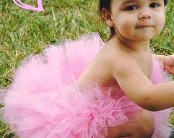 Pretty Pink Fluffy Little Tutu Baby And Toddler Girls Birthday Portraits Baby Shower Gift